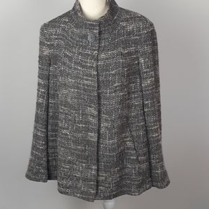 J.Jill large gray Tweed wool jacket coat t…